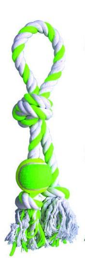Happet, Sznurek pętla, z piłką tenisową, zabawka dla psa