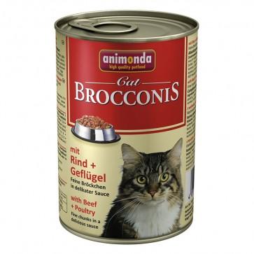 Animonda, Brocconis Cat, z wołowiną i drobiem, 400g