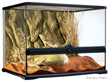 Exo-Terra, Terrarium szklane z tłem strukturalnym
