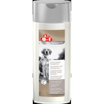 8IN1 White Pearl Shampoo, Szampon dla psów o jasnym umaszczeniu, 250ml
