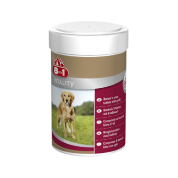 8IN1 Brewer's Yeast, Tabletki z drożdżami dla skóry i sierści, 250 sztuk
