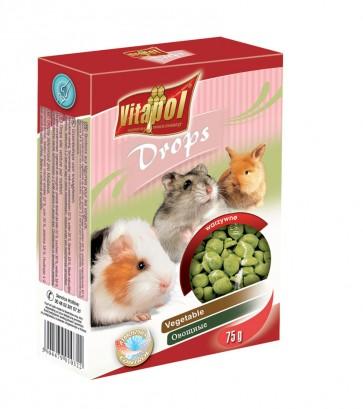 Vitapol, Dropsy dla gryzoni i królików, warzywne, 75g