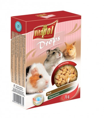 Vitapol, Dropsy dla gryzoni i królików, orzechowe, 75g