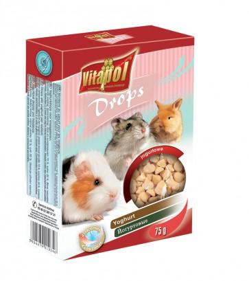 Vitapol, Dropsy dla gryzoni i królików, jogurtowe, 75g