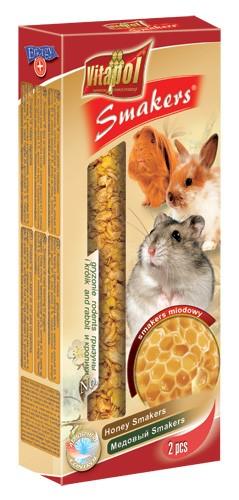 Vitapol, Smakers, Kolba dla gryzoni i królików, miodowa, 2 sztuki