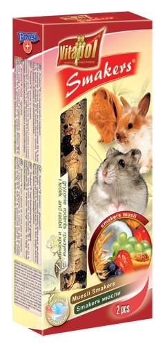 Vitapol, Smakers, Kolba dla gryzoni i królików, musli, 2 sztuki