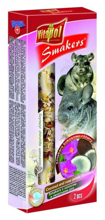 Vitapol, Smakers, Kolba dla szynszyli, kokosowo-różana, 2 sztuki