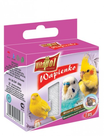 Vitapol, Wapienko dla ptaków, z muszlami, 1 sztuka 35g
