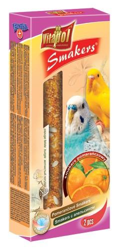 Vitapol, Smakers, Kolba dla papużki falistej, pomarańczowa, 2 sztuki