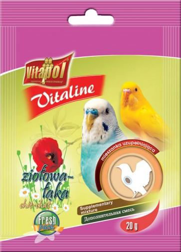 Vitapol, Vitaline, Ziołowa łąka, dla papużki falistej, saszetka 20g