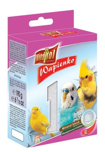 Vitapol, Wapienko dla ptaków XL, naturalne, 1 sztuka 190g