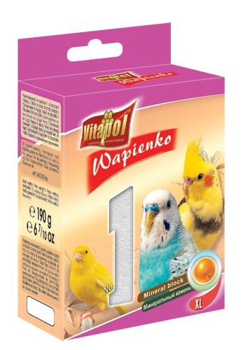 Vitapol, Wapienko dla ptaków XL, pomarańczowe, 1 sztuka 190g