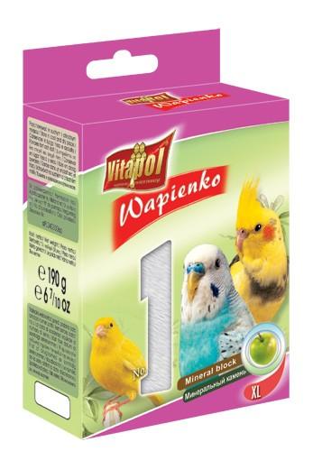 Vitapol, Wapienko dla ptaków XL, jabłkowe, 1 sztuka 190g