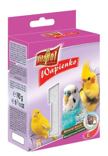 Vitapol, Wapienko dla ptaków XL, z muszlami, 1 sztuka 190g