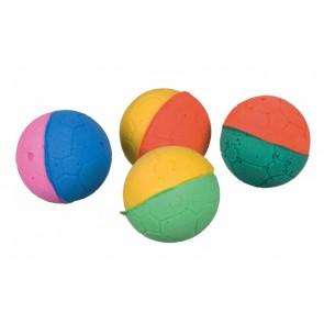 Zestaw miękkich piłeczek z pianki gumowej, ø 4,3 cm, 4 sztuki