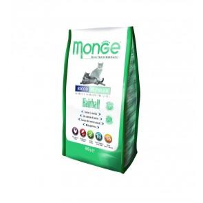 Monge, Hairball, dla dorosłych kotów cierpiących z powodu zalegających w żołądku złogów sierści