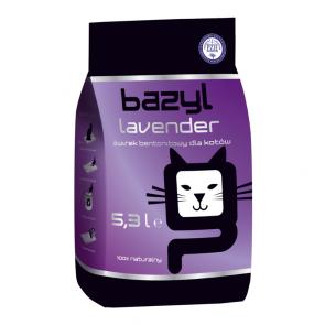 Bazyl, Lavender, zbrylający się żwirek dla kota o zapachu lawendy, 5,3L