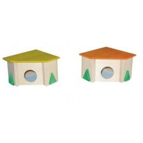 Pinokio, Domek drewniany, narożny, mały