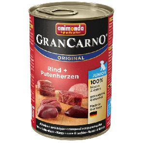 Animonda, GranCarno Junior, z wołowiną i sercami indyka, różne opakowania