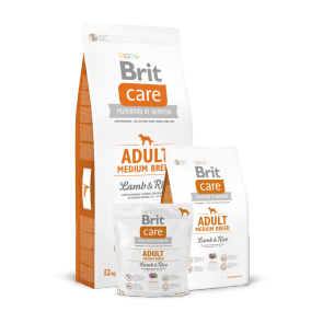 Brit Care, Adult Medium Breed, Lamb & Rice