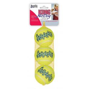 KONG AirDog Squeaker, Piłka tenisowa M, 3 sztuki