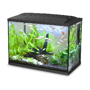 Happet, Akwarium K-60, zestaw, czarne