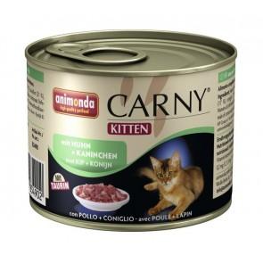 Animonda, Carny Kitten, z kurczakiem i królikiem, różne opakowania