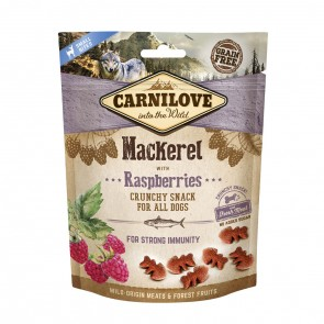 Carnilove, Crunchy Snack Mackerel With Raspberries With Fresh Meat