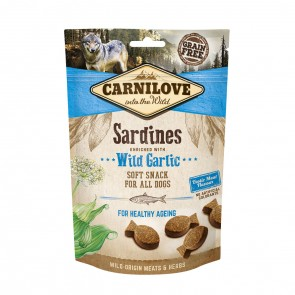 Carnilove, Semi Moist Snack Sardines Enriched With Wild Garlic