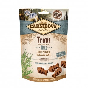 Carnilove, Semi-Moist Snack Trout Enriched With Dill