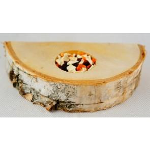 Ham-Stake, Platforma brzozowa z warzywami, półokrągła, 20cm