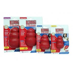 KONG Classic, gumowa zabawka na przysmaki lub pastę, różne rozmiary