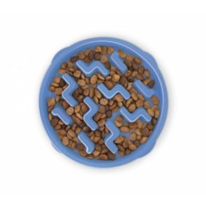 Outward Hound, Pet Feeder Slo-Bowl, niebieska