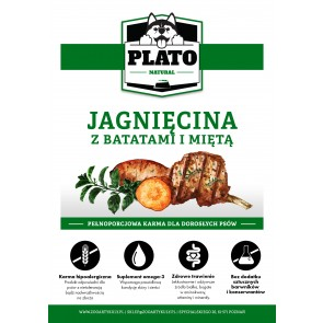 Plato Natural, Jagnięcina, z batatami i miętą, Adult