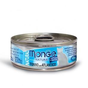 Monge Natural, Tuńczyk atlantycki, kawałki mięsa w sosie, 80g