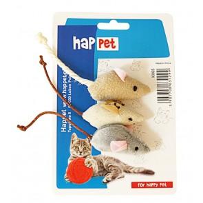 Happet, Myszki 5cm, zestaw, 3 sztuki