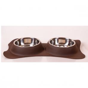 Happet, Stojak podwójny silikonowy, z miskami