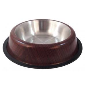 Happet, Miska metalowa z wzorem, drewno
