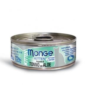 Monge Jelly Kitten, Tuńczyk z aloesem, kawałki mięsa w galarecie, 80g