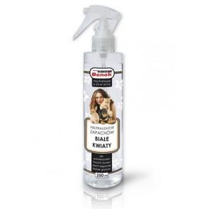 Super Benek, Neutralizator zapachów w sprayu, Białe kwiaty, 250ml