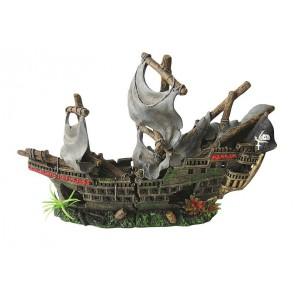 Happet, Wrak statku, ozdoba akwariowa