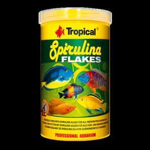 Tropical, Spirulina Flakes, pokarm roślinny w formie płatków z dodatkiem spiruliny