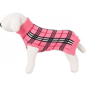 Happet, Sweter różowy / w kratę