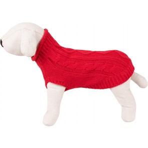 Happet, Sweter, warkocze, czerwony