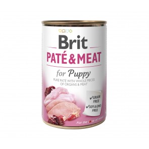 Brit Care, Pate & Meat, Puppy, 400g