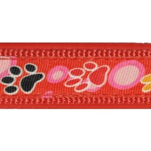 Happet, Szelki z podszyciem, czerwone z wzorem