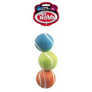 PetNova, Piłka tenisowa, pływająca, 6cm, 3 sztuki