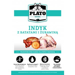 Plato Natural, Light, Indyk, z batatami i żurawiną, Adult