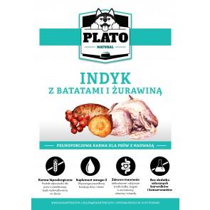 Plato Natural, Light, Indyk, z batatami i żurawiną, Adult