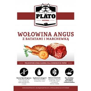 Plato Natural, Wołowina Angus, z batatami i marchewką, Adult